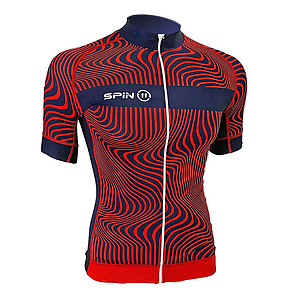S+ Red&Navy Short Sleeve Speed Jersey