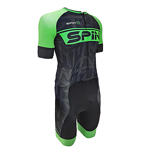 S+ Plus Race Suit Black/Green